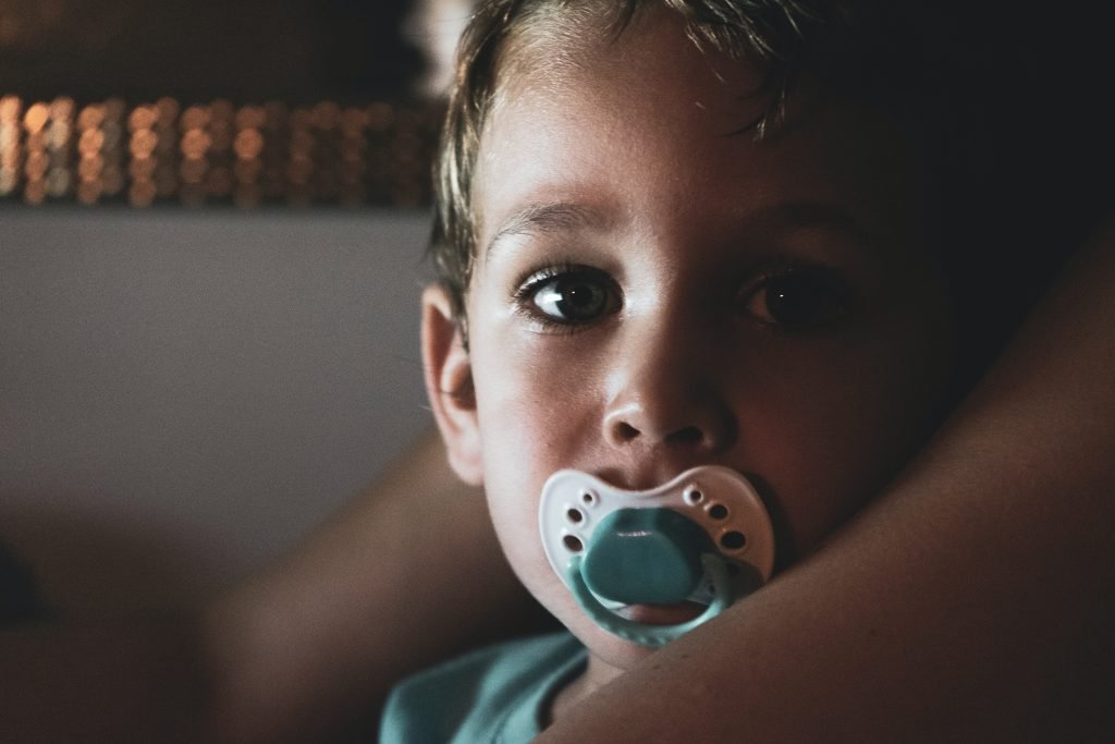 self-soothe with pacifier binky dummy