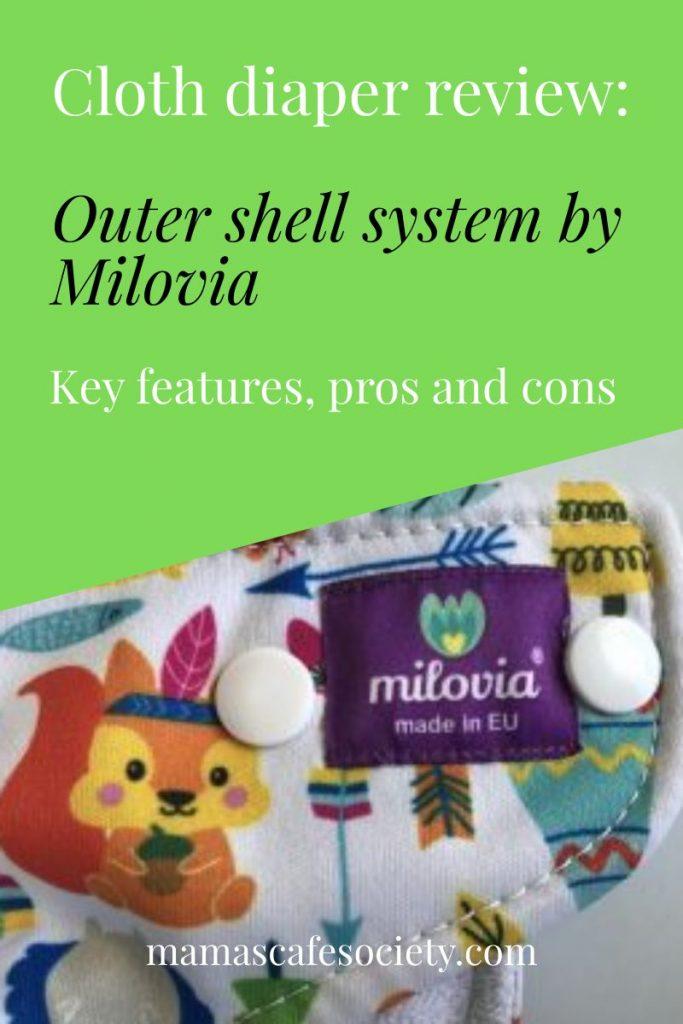 cloth diaper review: outer shell system by milovia
