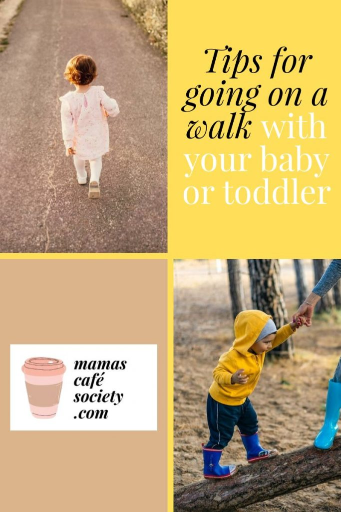 tips for going on a walk with your baby or toddler